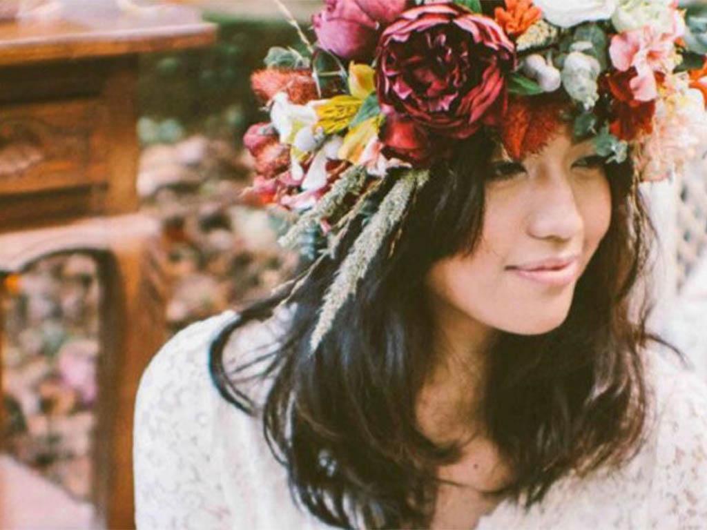 5 corone di fiori per la sposa boho-chic 2015